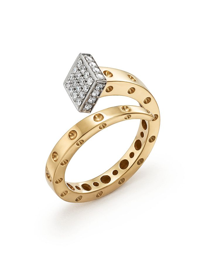 Roberto Coin - 18K Yellow and White Gold Pois Moi Chiodo Ring with Diamonds - 100% Exclusive