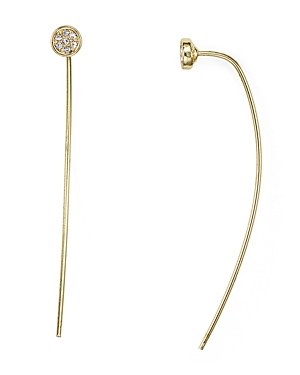Jules Smith Pave Button Threader Earrings