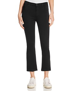 J Brand - Selena Cropped Bootcut Jeans in Black Bastille