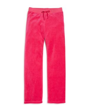 Juicy Couture Black Label Girls' Mar Vista Velour Pants, Big Kid - 100% Exclusive