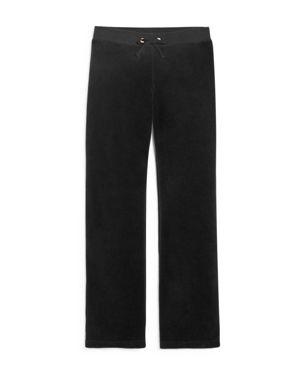 Juicy Couture Black Label Girls' Mar Vista Velour Pants, Big Kid - 100% Exclusive
