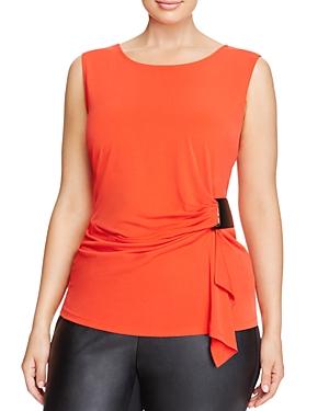 Calvin Klein Plus Drape Front Sleeveless Top