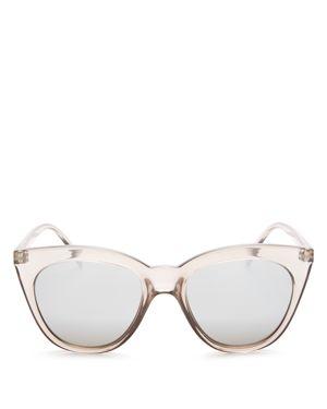 Le Specs Halfmoon Magic Cat Eye Sunglasses, 53mm