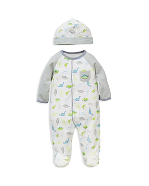 Little Me Boys Tiny Dinos Footie  Hat Set Baby