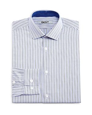 Dkny Boys Multi Stripe Dress Shirt  Big Kid