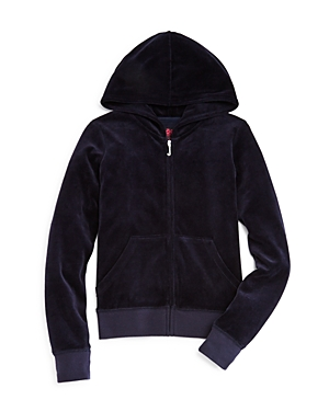 Juicy Couture Black Label Girls Robertson Velour Hoodie Big Kid  100 Exclusive