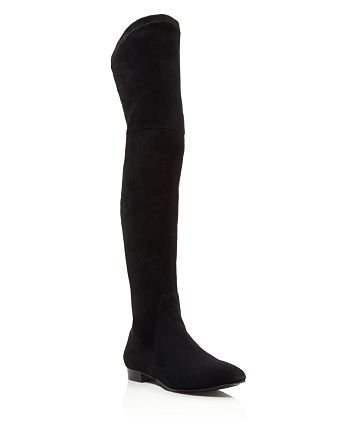 Delman - Women's Stretch Suede Over-the-Knee Boots