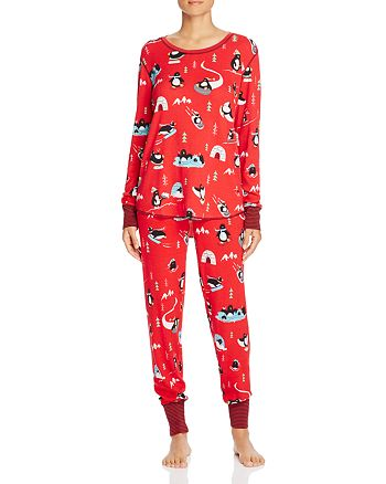 PJ Salvage - Penquin Print Thermal Knit Pajama Top & Pants