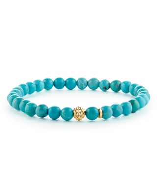 Caviar Icon Turquoise Bracelet With 18K Gold Caviar Station in Turquoise/ Gold