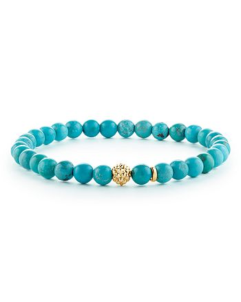 LAGOS - Caviar Icon Turquoise Bracelet with 18K Gold Caviar Station