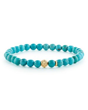 Lagos Caviar Icon Turquoise Bracelet with 18K Gold Caviar Station