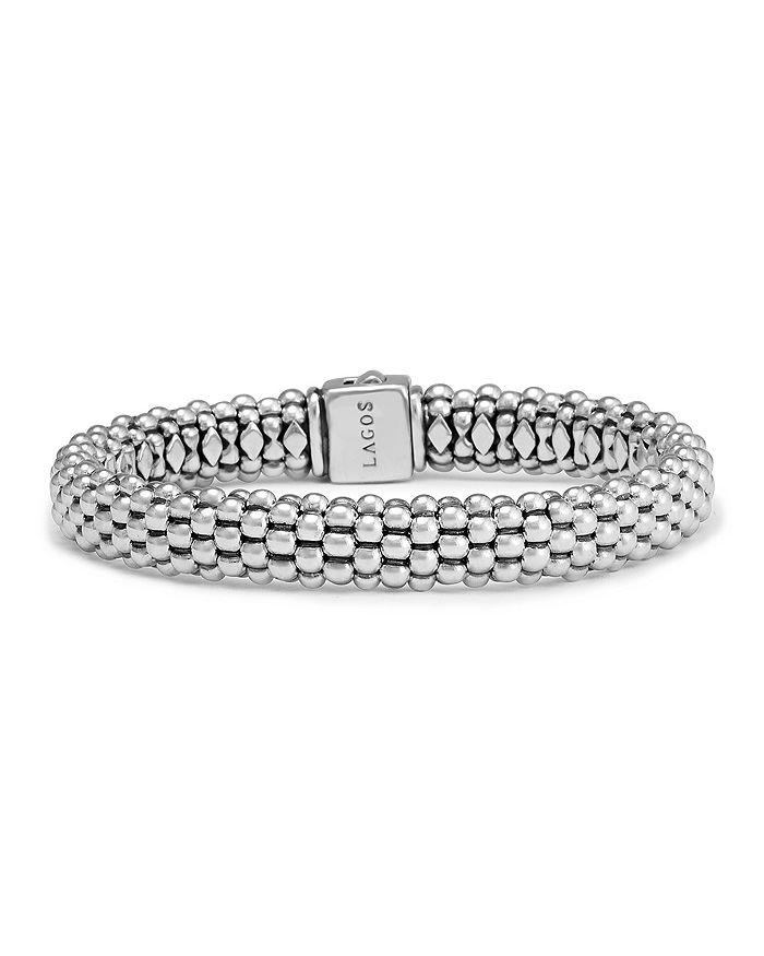 LAGOS - Sterling Silver Caviar Oval Rope Bracelet