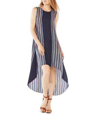 Bcbgmaxazria Mickayla Striped High/Low Dress 1764185