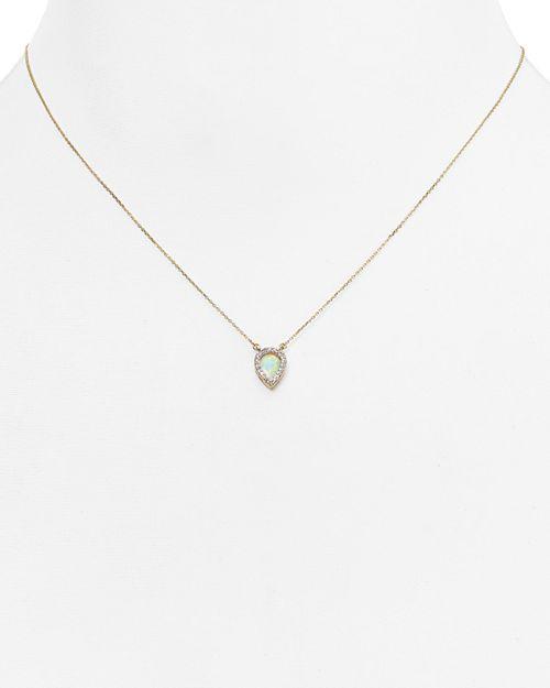 "Adina Reyter - Opal & Diamond Teardrop Pendant Necklace, 15"""