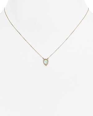 Adina Reyter Opal & Diamond Teardrop Pendant Necklace, 15