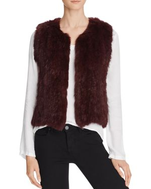 525 AMERICA Classic Fur Vest in Brown