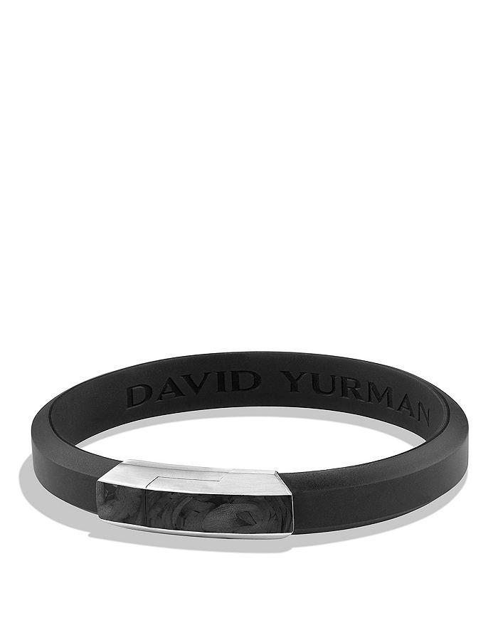 David Yurman - Forged Carbon Rubber ID Bracelet in Black