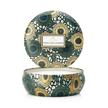 Voluspa - Japonica French Cade & Lavender 3 Wick Candle in Decorative Tin