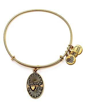 Alex and Ani Because I Love You Expandable Wire Bangle