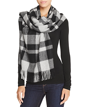 C by Bloomingdale's Color Block Cashmere Wrap Scarf - 100% Exclusive