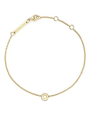 Zoe Chicco 14K Yellow Gold Initial Bracelet-Jewelry & Accessories