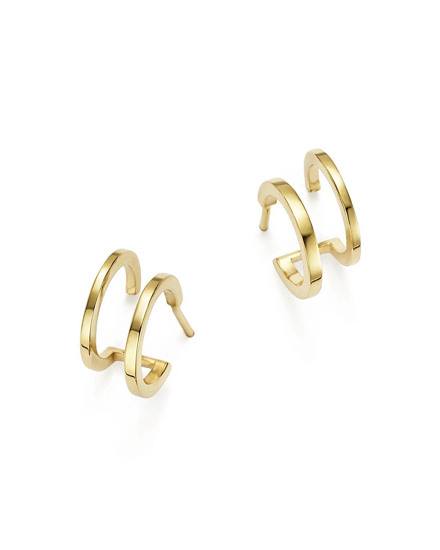 Zoë Chicco 14k Gold Double Huggie Earrings