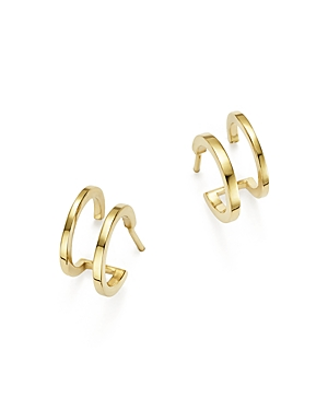 Zoe Chicco 14K Yellow Gold Double Huggie Hoop Earrings