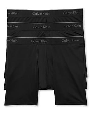 Calvin Klein Microfiber Stretch Boxer Briefs - Pack of 3