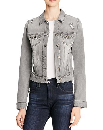 Mavi - Samantha Denim Jacket in Grey Vintage