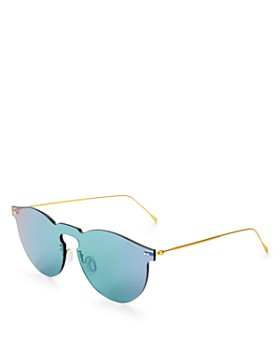 Illesteva - Women's Leonard Mirrored Shield Sunglasses, 55mm