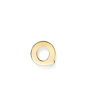 Zoe Chicco 14K Yellow Gold Single Initial Stud Earring