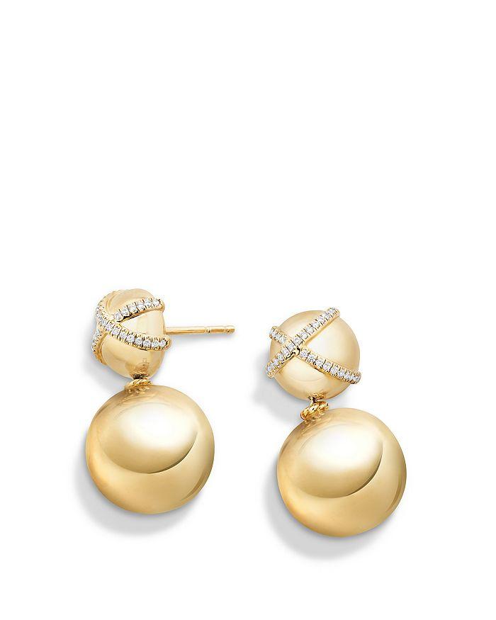 David Yurman - Solari Double Drop Earrings with Diamonds in 18K Gold