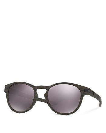 Oakley - Men's Polarized Latch Woodgrain Sunglasses