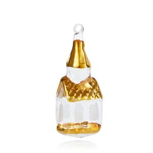 Bloomingdale's Gold Painted Glass Church Ornament - 100% Exclusive