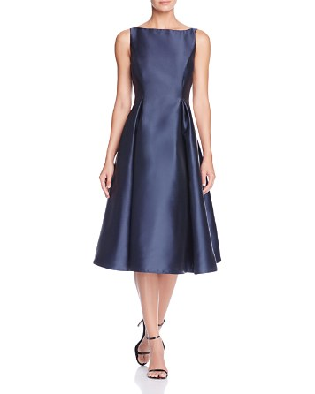 $Adrianna Papell Sleeveless Tea-Length Dress - Bloomingdale's