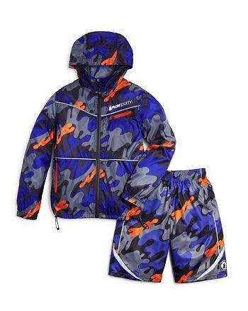 f5f09ffcb83f6 Flow Society Boys' Camo Windbreaker & Active Shorts - Big Kid ...