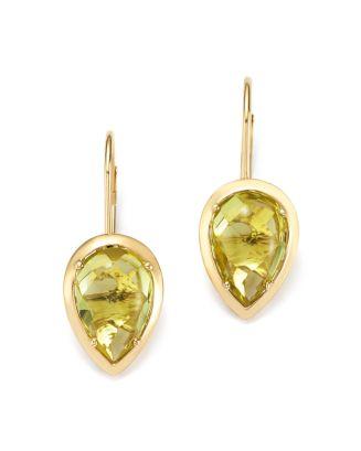 Teardrop Lemon Quartz Drop Earrings In 14 K Yellow Gold  100 Percents Exclusive by Bloomingdale's