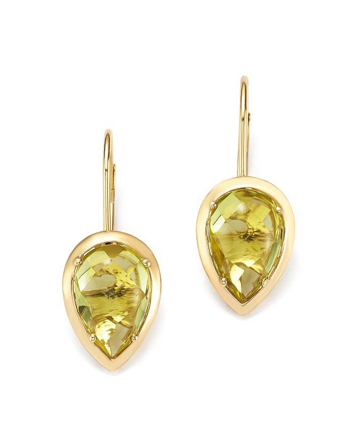 Bloomingdale's - Teardrop Lemon Quartz Drop Earrings in 14K Yellow Gold- 100% Exclusive