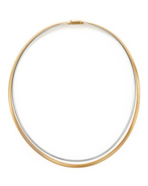 Marco Bicego 18K Yellow and White Gold Masai Two Strand Collar Necklace, 17