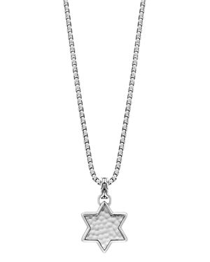 John Hardy Sterling Silver Classic Chain Star of David Hammered Pendant Necklace, 22