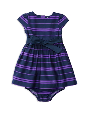 Ralph Lauren Childrenswear Infant Girls' Striped Sateen Dress & Bloomer Set - Sizes 3-24 Months