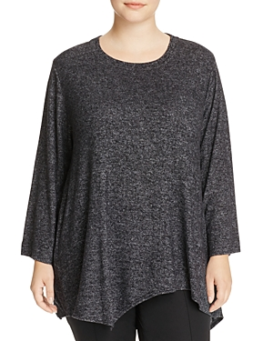 Nally & Millie Plus Asymmetric Tunic Sweater