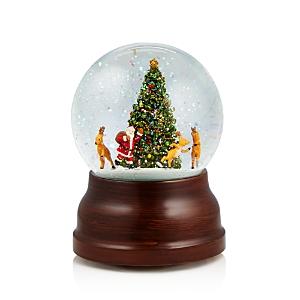 Bloomingdale's Santa and Reindeer Musical Snowglobe - 100% Exclusive