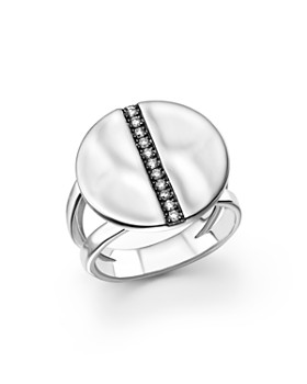 IPPOLITA - Sterling Silver Senso™ Split Band Disc Ring with Diamonds
