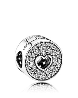Pandora - Charm - Sterling Silver & Cubic Zirconia Anniversary, Moments Collection