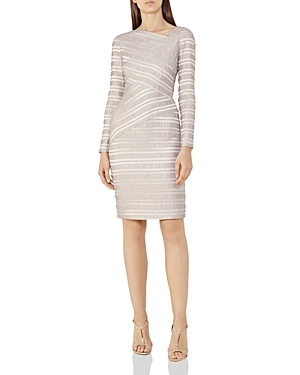 Reiss Ailette Textured Stripe Dress