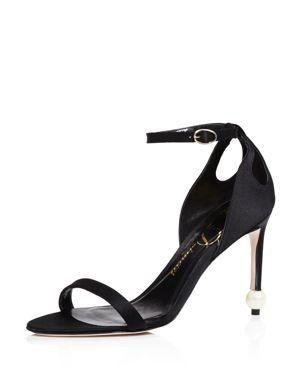 Delman Jemm Ankle Strap High Heel Sandals
