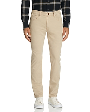 Paige Federal Straight Slim Fit Twill Pant in Timberwolf-Men