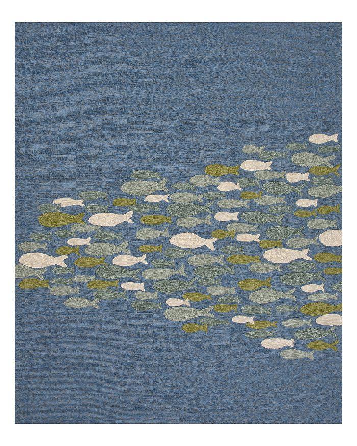 Jaipur Living Jaipur Coastal Lagoon Go Fish Area Rug, 3'6 X 5'6 In Niagara / Moss