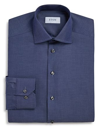 Eton - Chambray Solid Slim Fit Dress Shirt